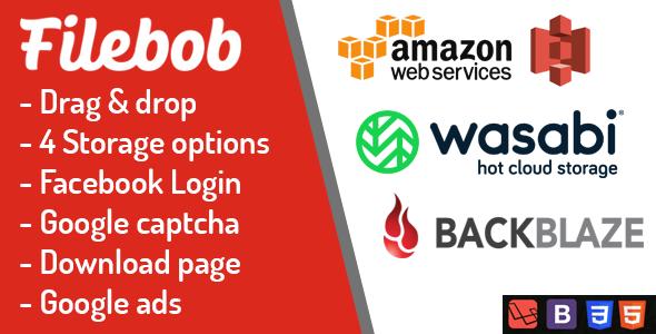 Download Filebob – File Sharing And Storage Platform Free Nulled