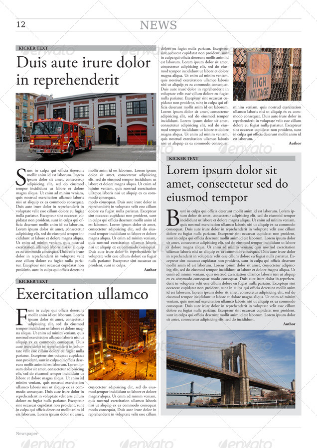 24 Pages Newspaper Template In A3 Format By Grgaatree Graphicriver