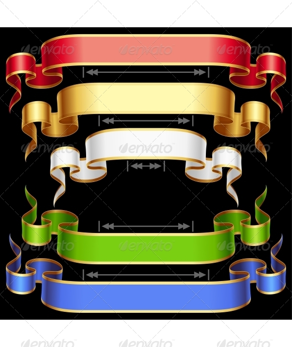 Ribbon set with adjusting length. Vector frame - Miscellaneous Vectors