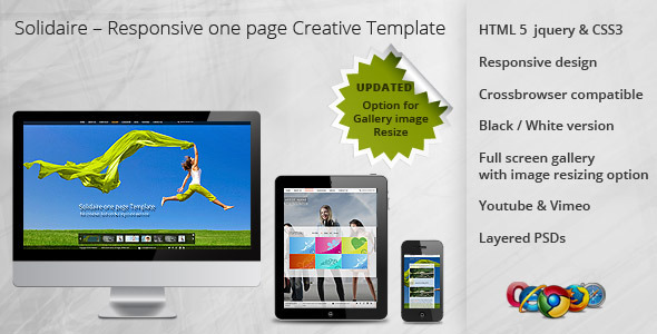 Solidaire – Responsive one page Creative Template - Creative Site Templates