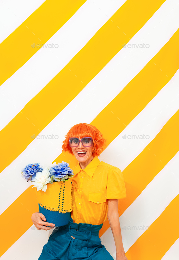 Vintage smiling summer girl - Stock Photo - Images