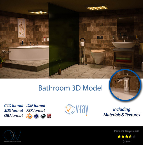 Bathroom 3D Model - 3DOcean Item for Sale