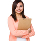 Asian Woman hold with clipboard - PhotoDune Item for Sale
