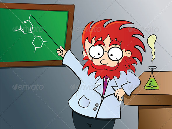 Chemistry teacher in class - People Characters