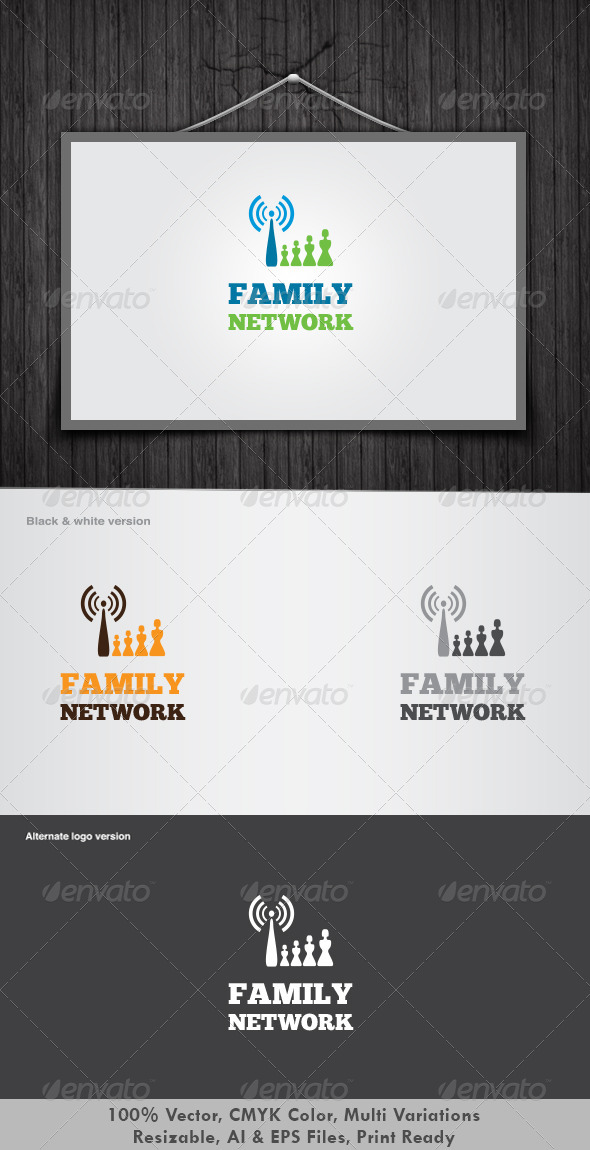 Family Network Logo - Humans Logo Templates