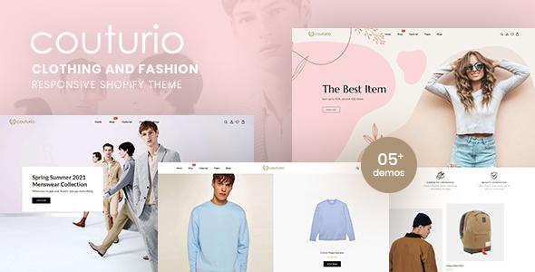 Couturio - Clothing & Fashion Responsive Shopify Theme