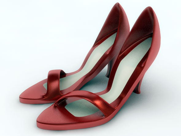 Ladies Sandal / 3Ds Max - 3DOcean Item for Sale