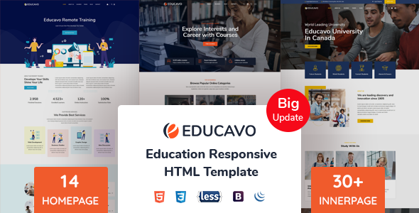 Educavo - Education HTML Template