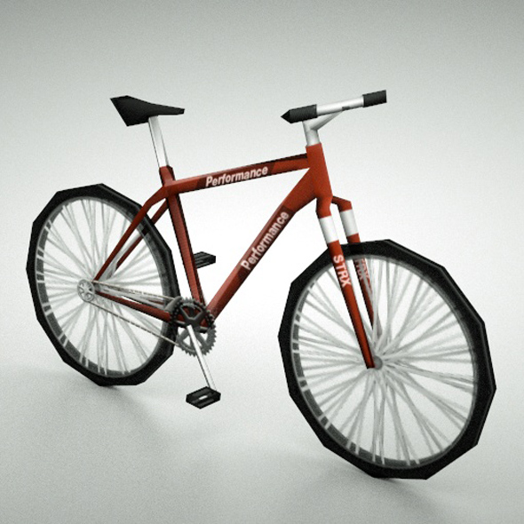 Low-poly mountain bike - 3DOcean Item for Sale