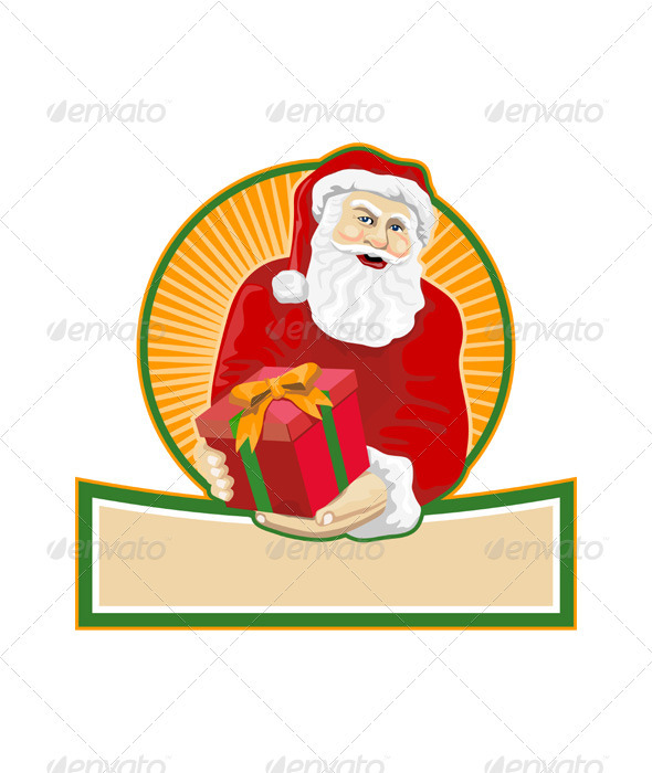 Santa Claus Father Christmas Retro - Christmas Seasons/Holidays
