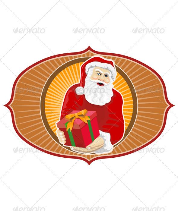 Santa Claus Father Christmas Retro  - Christmas Seasons/Holidays