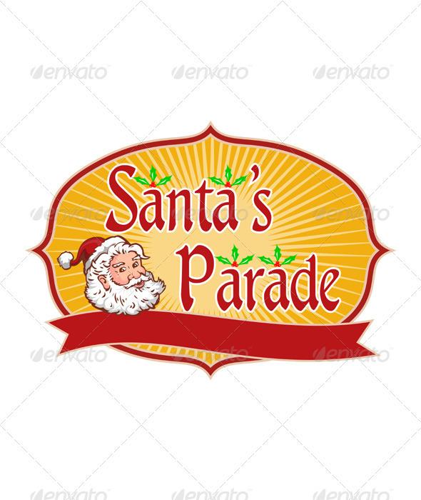 Santa Claus Christmas Parade Retro - Christmas Seasons/Holidays