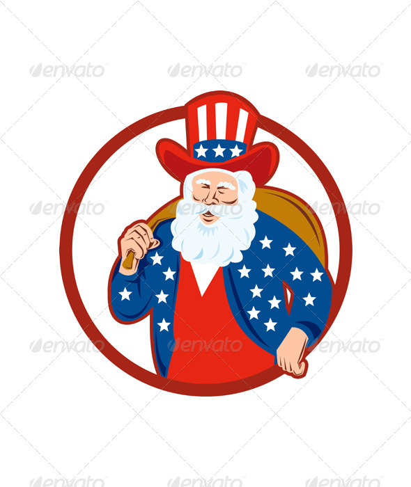 American Father Christmas Santa Claus  - Christmas Seasons/Holidays