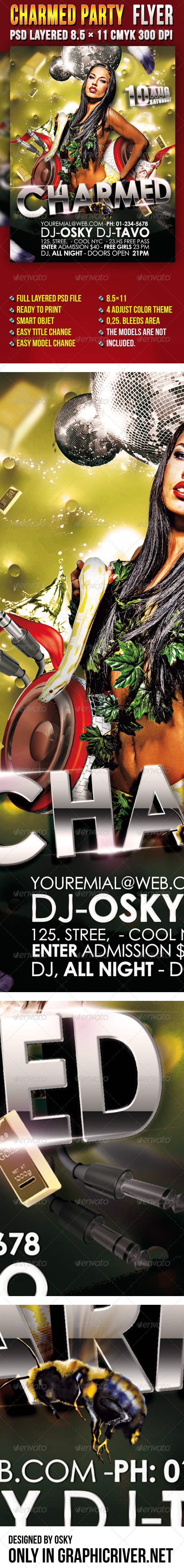 Charmed Party Flyer - Clubs & Parties Events