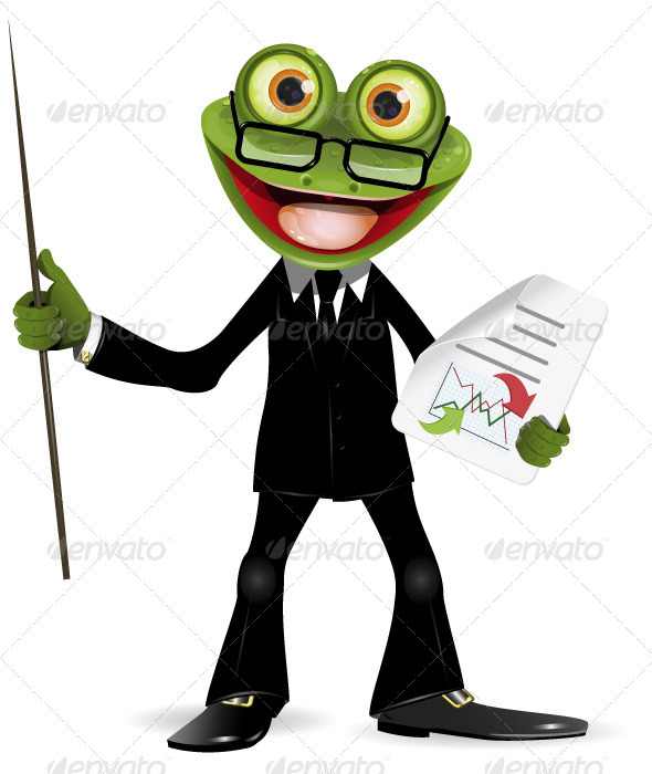 Frog in a suit - Animals Characters