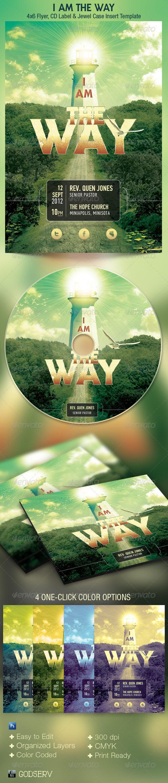 Way Church Flyer CD Template - Church Flyers