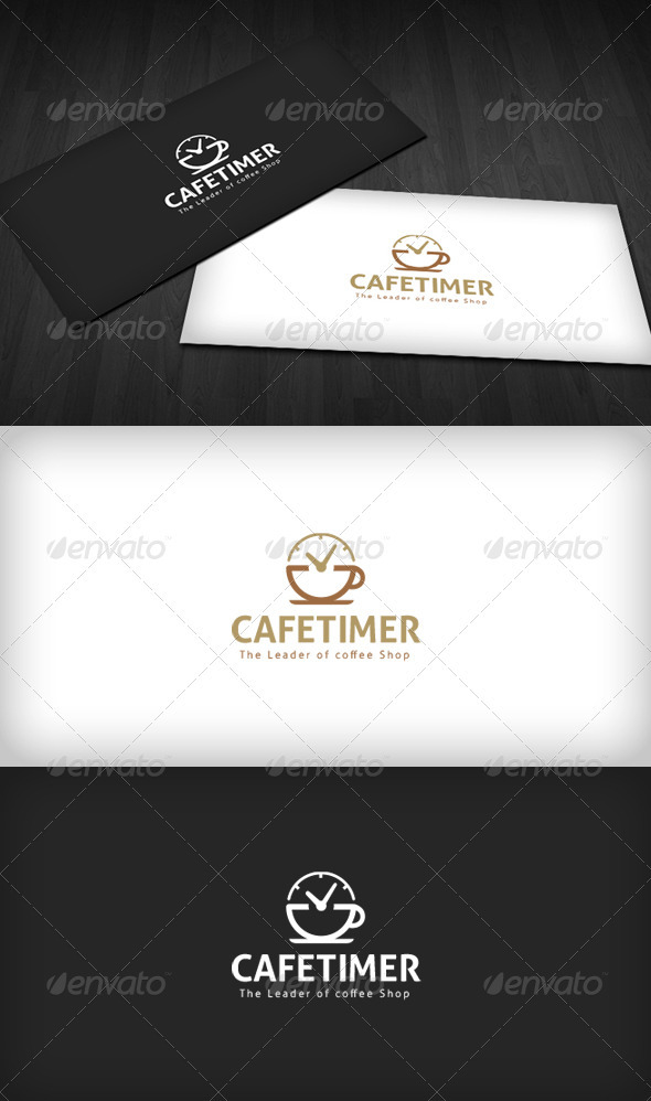 Cafe Timer Logo - Food Logo Templates