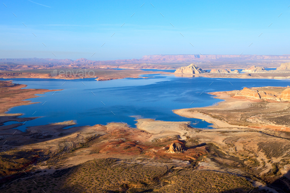 Lake Powell from Alstrom Point - Stock Photo - Images