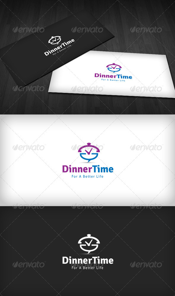 Dinner Time Logo - Food Logo Templates