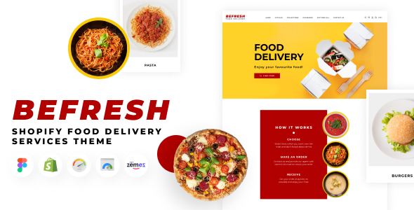 BeFresh - Shopify Food Delivery Services Theme