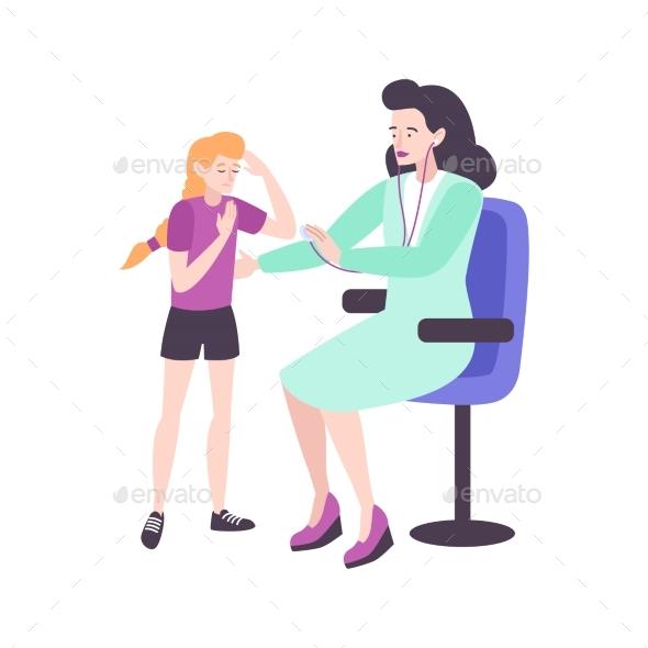 Teenage Pediatric Checkup Composition