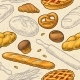 Seamless Pattern for Bakery