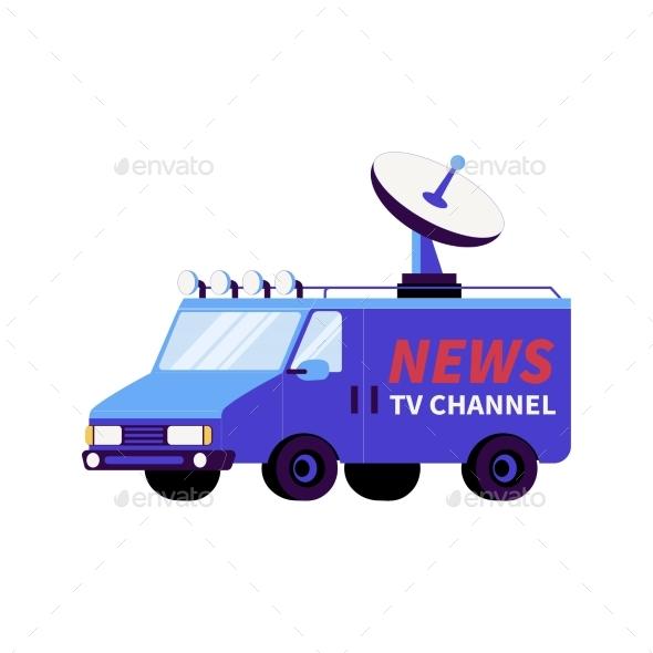 News Broadcasting Van Composition