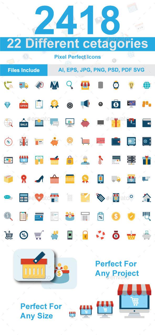 1200+ icons