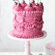 Birthday cake with vintage buttercream piping - PhotoDune Item for Sale