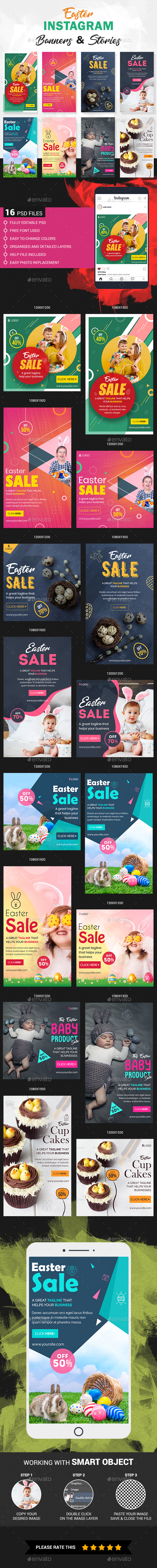 Easter Instagram Story and Banner Templates
