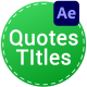 Quotes Titles | After Effects - VideoHive Item for Sale