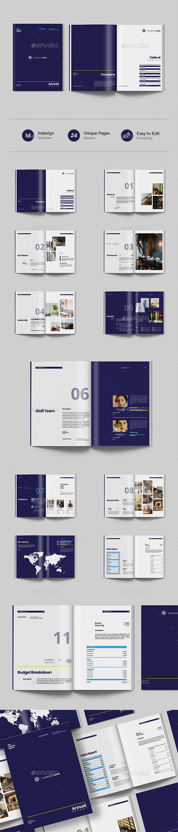 Modern Annual Report Indesign Template
