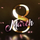 Golden 8 March Wishes - VideoHive Item for Sale