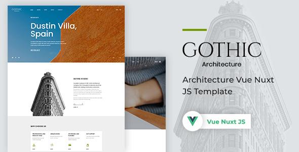 Gothic - Architecture Vue Nuxt JS Template
