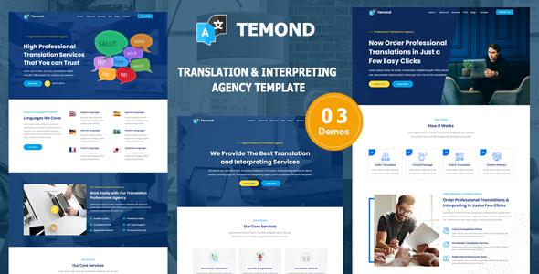 Temond – Translation & Interpreting Agency Template