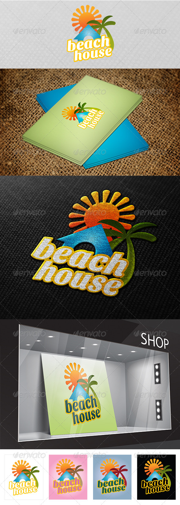 Beach House Logo  - Vector Abstract