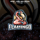 Flamingo Gaming E-sport and Sport Logo Template