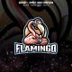 Flamingo Gaming E-sport and Sport Logo Template