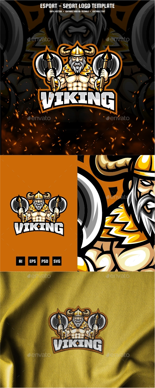 Viking E-sport and Sport Logo Template
