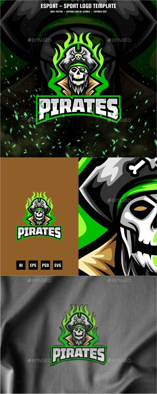 Pirates E-sport and Sport Logo Template