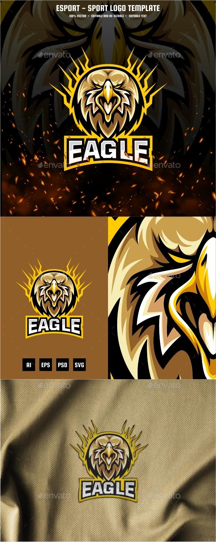 Eagle Head E-sport and Sport Logo Template