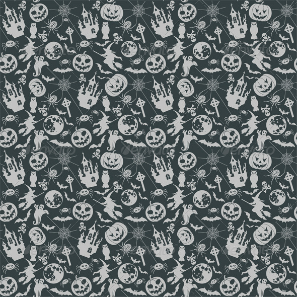 Halloween Seamless Background - Halloween Seasons/Holidays