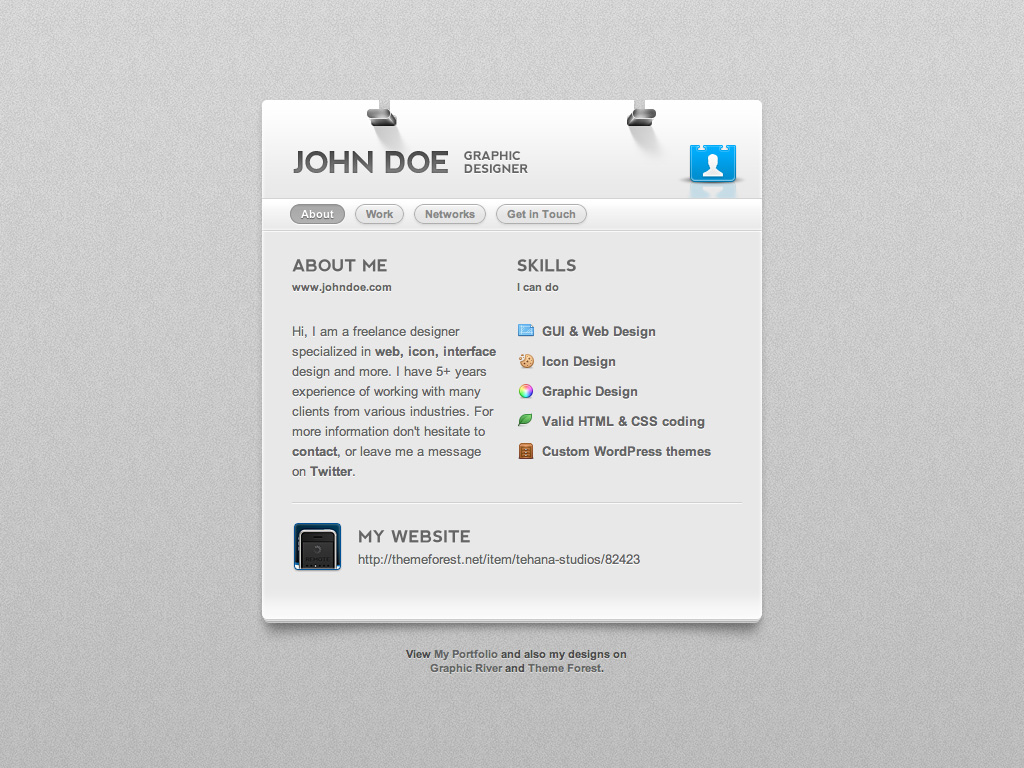 Dotme business card theme by paulandmissy themeforest dotme business card theme reheart Images