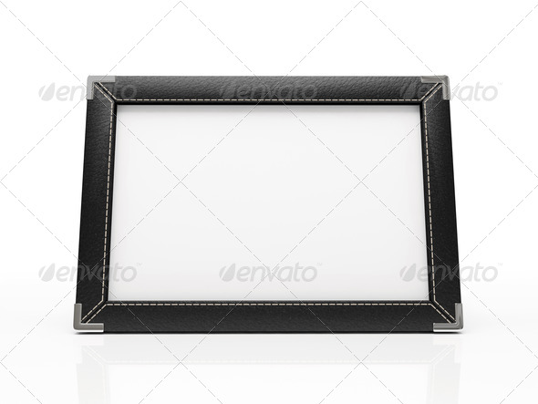 Black photo frame isolated on white background. Your image can - Stock Photo - Images