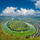 Moselle River bend near Bremm town, Germany - PhotoDune Item for Sale