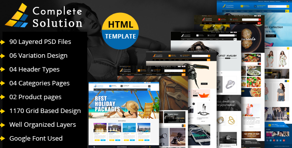 Complete Solution - Multipurpose eCommerce Html Template