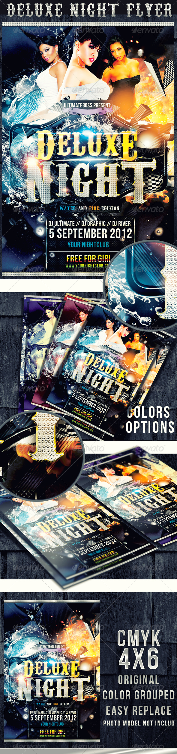 DELUXE NIGHT FLYER  - Clubs & Parties Events