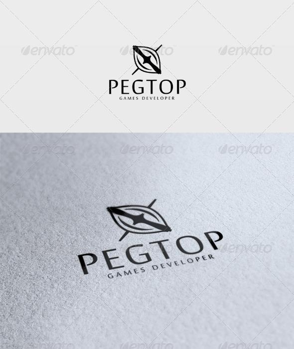 Pegtop Logo - Vector Abstract