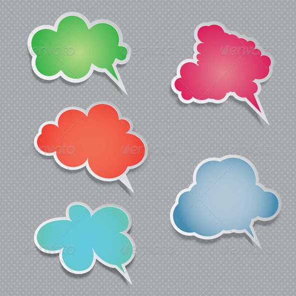 Speech bubble collection - Characters Vectors