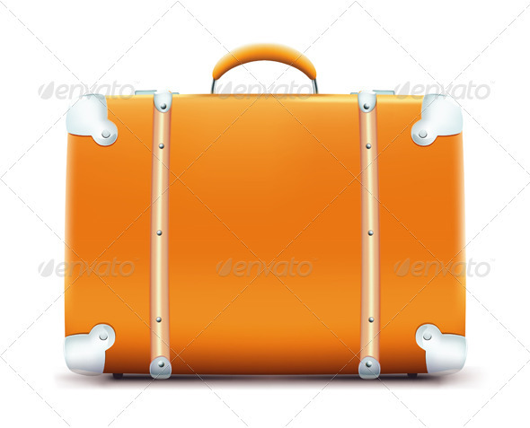 Vintage suitcase  - Objects Vectors